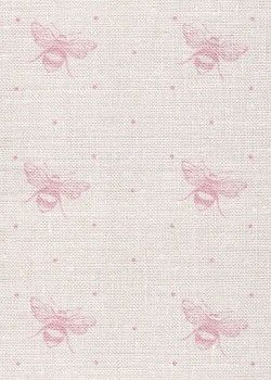 Gorgeous Just Bees by Peony & Sage. Beautiful as curtains, roman blinds, cushions & lampshades. Available to order from Victoria Clark Interiors.