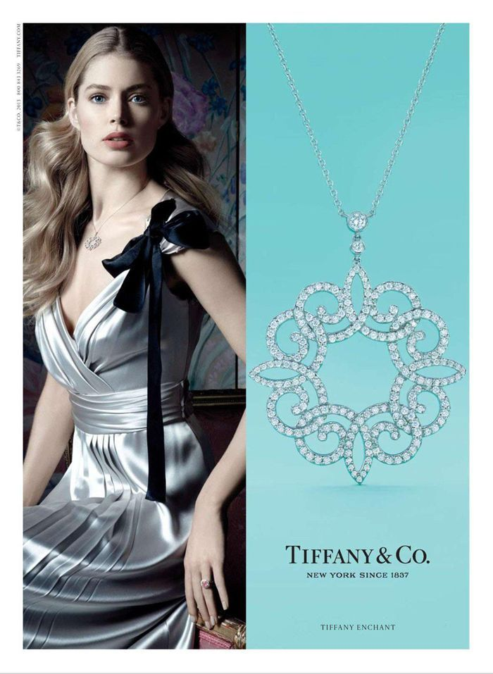 This classic from Tiffany and Co. is simple and uses beautiful shades of blue.