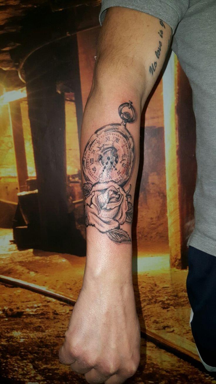 Nice clock and Rose Tattoo