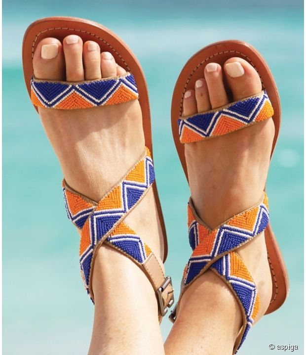Beads + sandals by Apsiga                                                       …