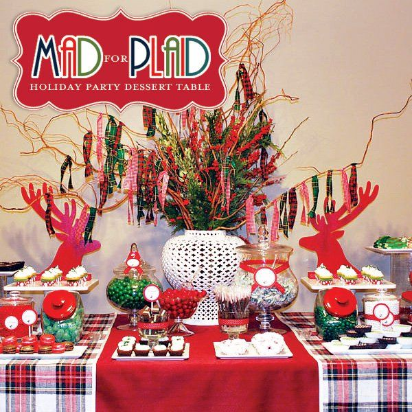 """Mad for Plaid"""" Christmas Dessert Table // Hostess with the Mostess®"""