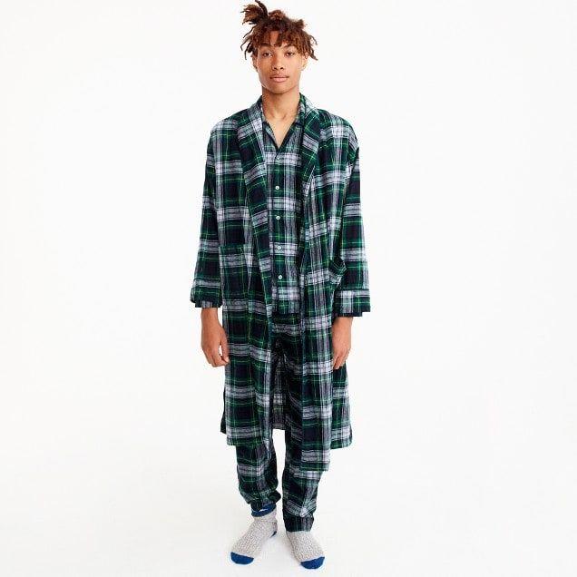 robe in green tartan : men underwear & pajamas