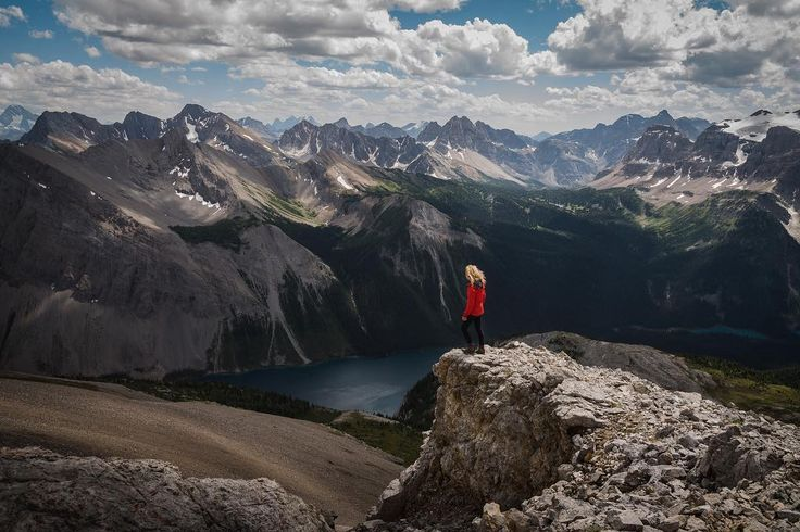 Photo from BC #guestagrammer @beckylynnsim: The hikes at Assiniboine are spectacular.  This is from Wonder Peak looking over Marvel Lake with a view that goes on forever.  The hike is steep and rocky.  You will need good hiking boots and some good snacks for the top. #exploreBC #exploreCanada #KootRocks #BCParks