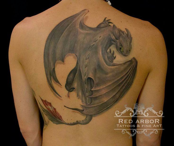 Toothless tattoo design