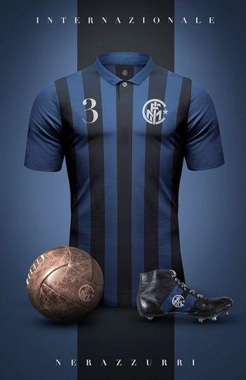 Inter de Milán - Camisetas vintage de gigantes de Europa