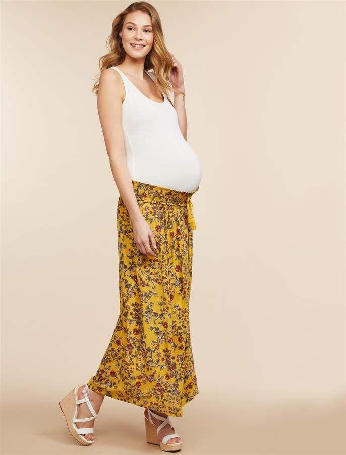 d52affdf53a67 Motherhood Maternity Jessica Simpson Under Belly A-line Maternity Skirt