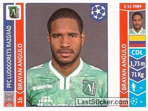 Sticker 176: Brayan Angulo - Panini UEFA Champions League 2014-2015 - laststicker.com