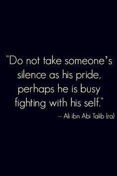Islamic quote by Hazrat Ali bin Abu Taalib رضي الله عنه  #Silence #Pride