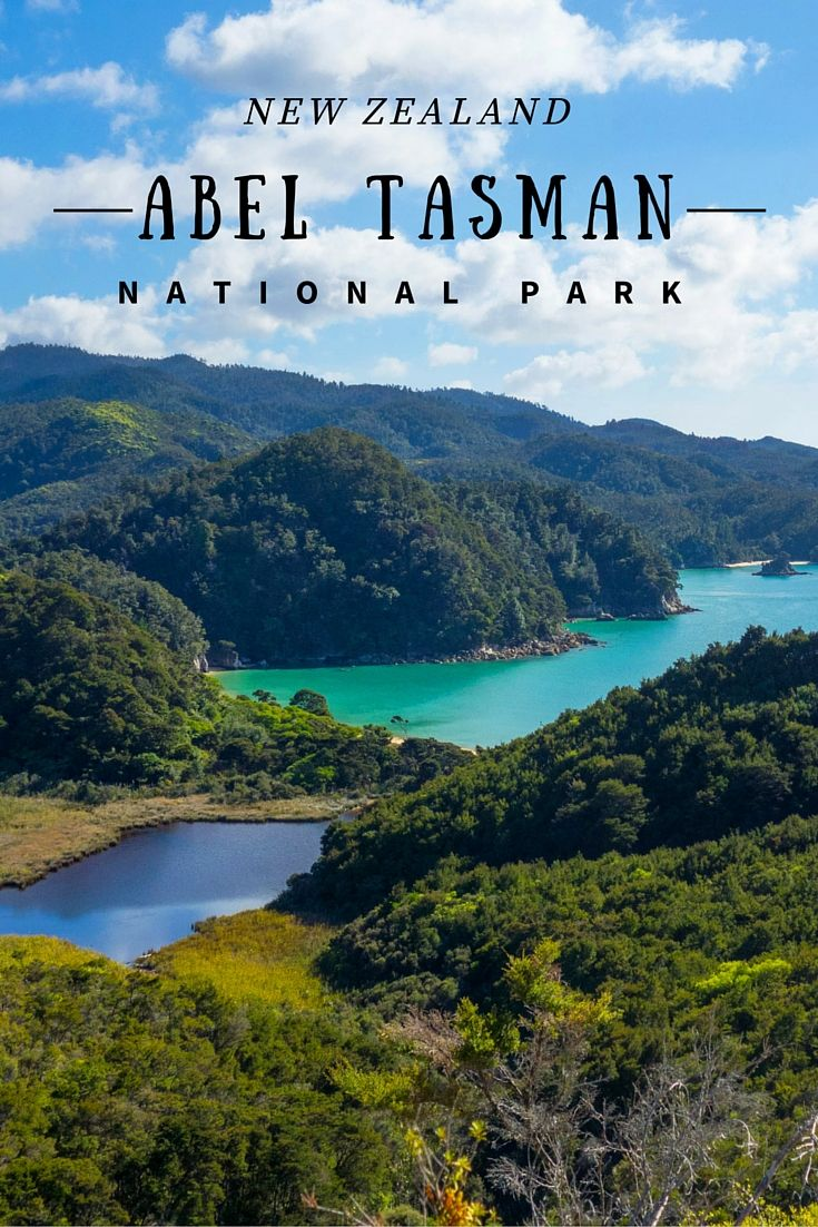 Abel Tasman National Park, New Zealand. A perfect combination of forest and beaches, a pleasant place for hiking.