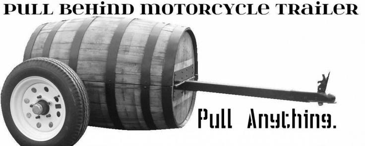Pull Behind Motorcycle Trailer, Motorcycle Cargo Trailer, Custom Trailer