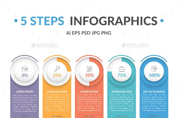 Infographic Template With 5 Steps Infographic Templates