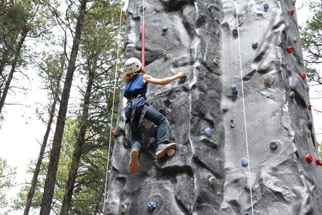 Rock climbing at Cypress Hills Eco Adventure Ltd.