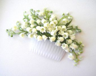 lily of the valley hairpiece lilies of the valley by thehoneycomb