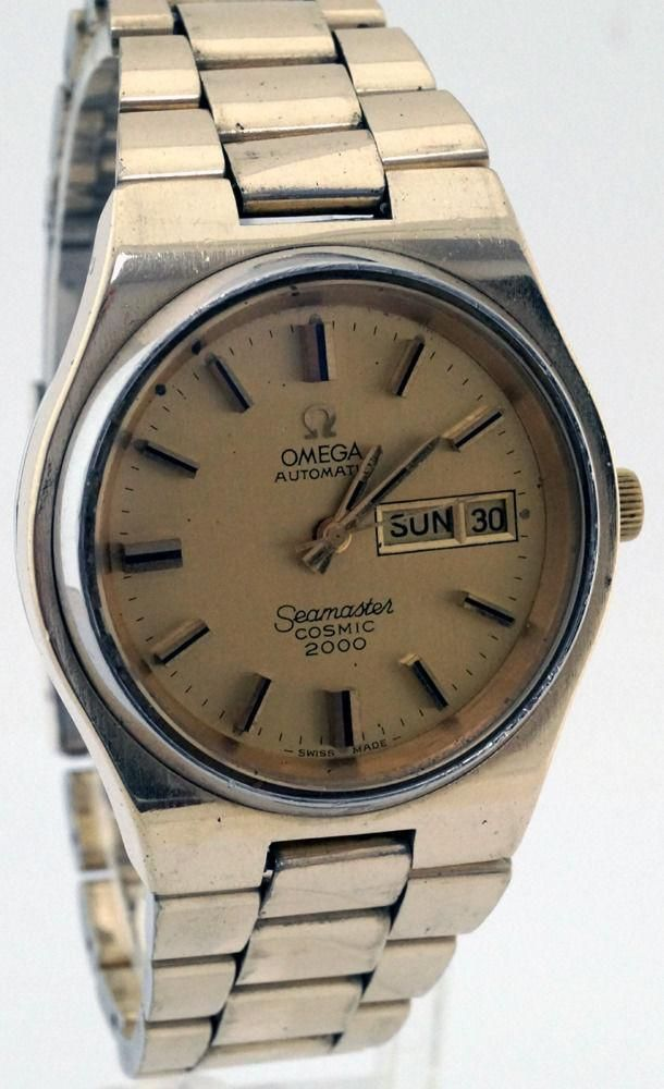 Omega Seamaster Cosmic 2000 Day/Date Gold Plated Automatic Gents Watch
