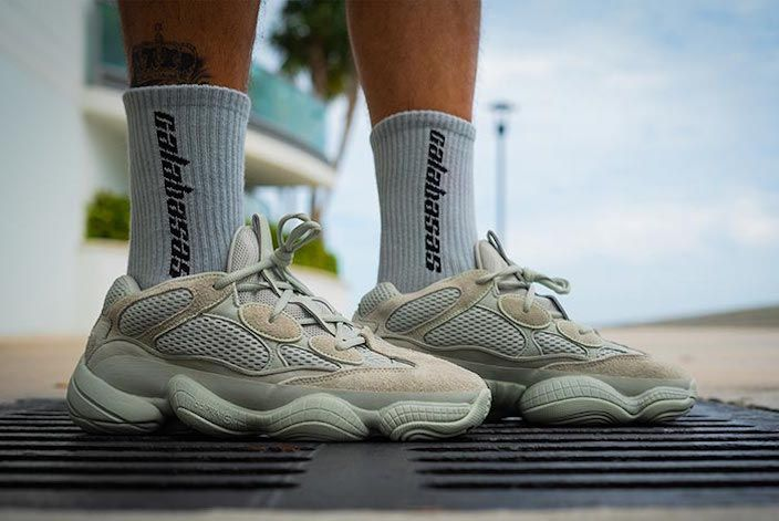 8df98bfe7 adidas Yeezy 500 Salt On-Foot