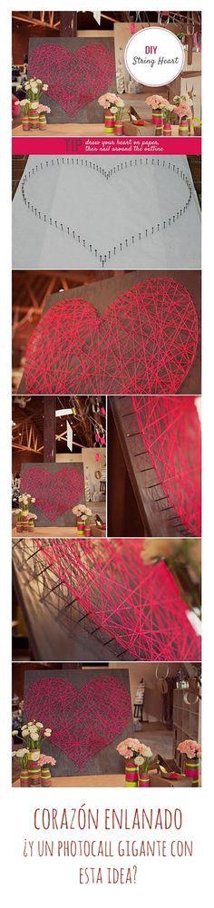 Photocall. Ideas para bodas en San Valentín