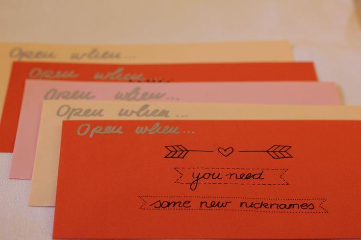 Öffne mich wenn… Diese Briefe sind eine wunderbare Möglichkeit jemanden zu überraschen und ihr/ihm zu zeigen, wie gerndusie/ihnhat.Besonders schön sind diese kleinen Aufmerksamkeiten, wen…