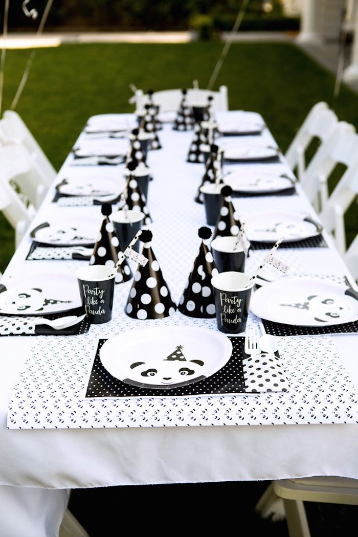 Party tablescape from a Party Like a Panda Birthday Party on Kara's Party Ideas | KarasPartyIdeas.com (13)
