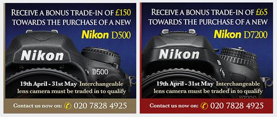 News Just In! Enhanced Part-Exchange on new Nikon Bodies