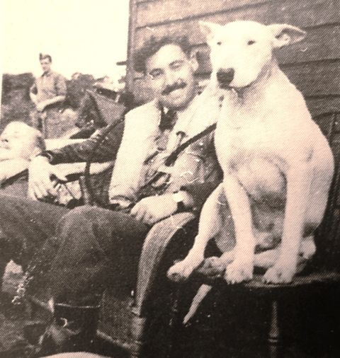Sgt Edmund E Shepperd of No 152 Squadron RAF shares the company of bull terrier mascot P/O Pooch at RAF Warmwell in September 1940. Shepperd joined the squadron at RAF Acklington when it reformed on 1 October 1939 and claimed an Me 109 destroyed on 25 July, a Ju 88 on 12 August, a Ju 87 on 18 August and a Ju 88 on 7 October. He was killed, aged 23, on 18 October when he crashed at Tadnoll Mill from unknown causes, though there was poor visibility at the time.