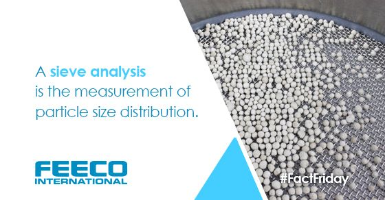 A sieve analysis is the measurement of particle size distribution. #facts #factfriday #factoftheday #sieve #sieveanalysis #agglomeration #materialtesting