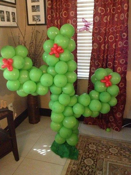 Balloon Cactus - Cinco de Mayo Party Decor