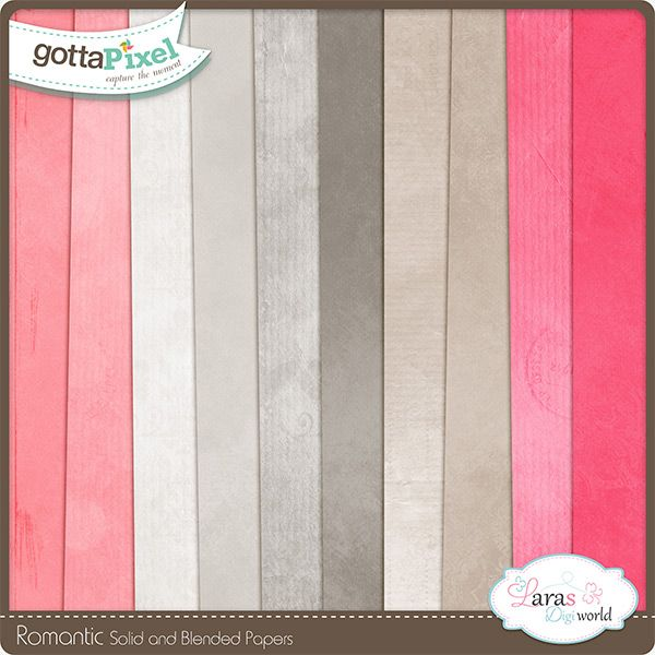 Romantic Blended and Solid Papers by Lara's Digi World