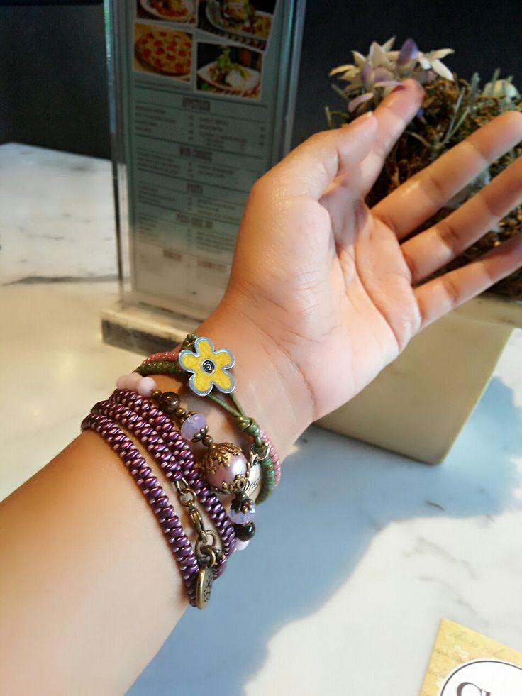 pink purple wrap bracelets