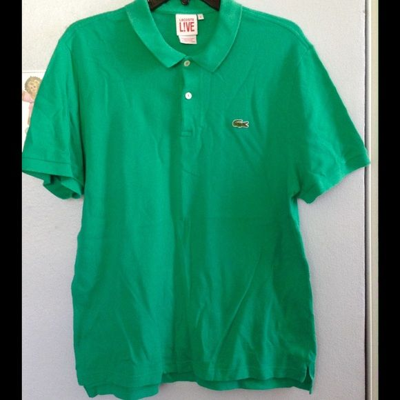 New ListingMen's Lacoste Polo Shirt Worn once! Green Lacoste Live polo. 100% cotton. Size 6. Lacoste Tops