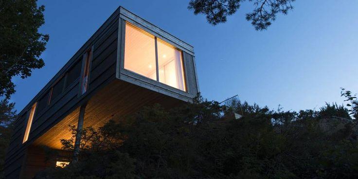 SØRLANDET: Wow! Sjekk denne ubercoole hytten på Tvedestrand.