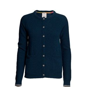 SUPERSOFT cardigan, petrol. The classic and usable cardigan to be worn with every outfit. Made in sustainable wool from our Italien supplier. Beautiful details with Liberty fabric on the buttons.