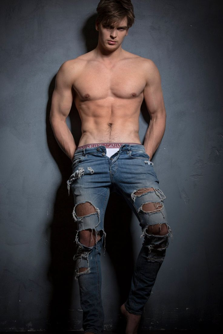 Woman sexy guy jeans