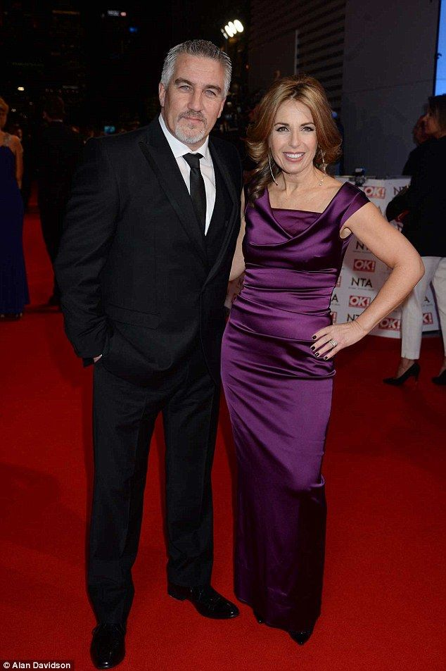 Happy couple: Paul Hollywood was happy to show some love for his wife as they were seen ex...
