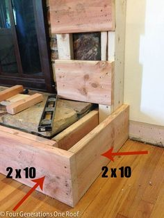 how to build fireplace hearth raised - Google Search