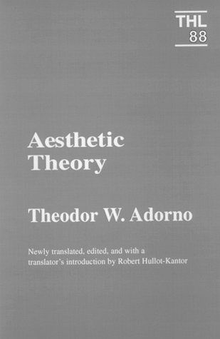 Aesthetic Theory (Theory and History of Literature) by Theodor W. Adorno http://www.amazon.com/dp/0816618003/ref=cm_sw_r_pi_dp_y5E-vb003WEJE