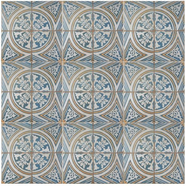 SomerTile 17.75x17.75-inch Royals Flatlands Ceramic Floor and Wall Tile (Case of 5)