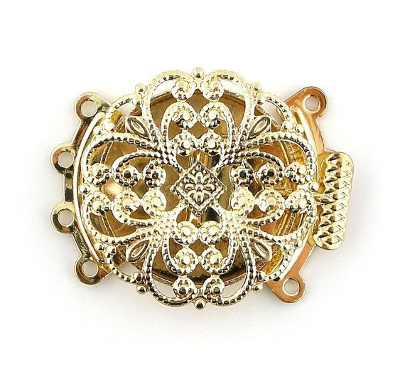 22mm Gold Plated Filigree 4 Four Multi by FancyGemsandFindings, $4.50