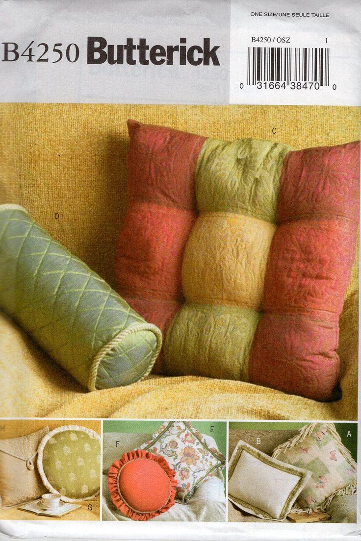 Free Us Ship Butterick 4250 Sewing Pattern Uncut Throw Pillows Bolster Envelope Round Flanged Ruffle Trim & 29 best Home Decor Pillows images on Pinterest   Décor pillows ... pillowsntoast.com
