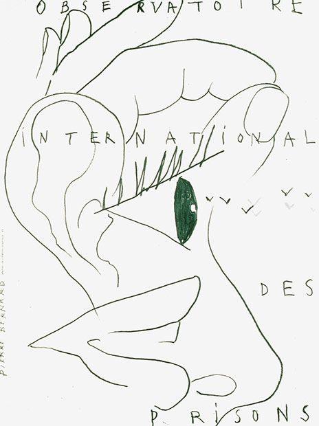 Atelier de création graphique (Pierre Bernard) | Observatoire international des prisons. Ne pas mettre en avant les mauvaises conditions mais plutôt l'humanité des prisonniers (les 5 sens).
