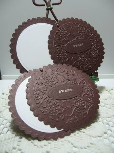 Oreo Cookie Slider by kraftyaunt - Cards and Paper Crafts at Splitcoaststampers I am so loving this!!!!