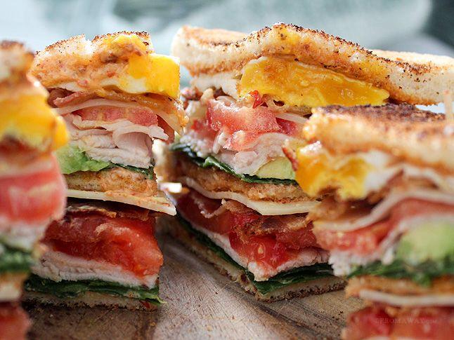 California Club Sandwich with Chipotle Aioli
