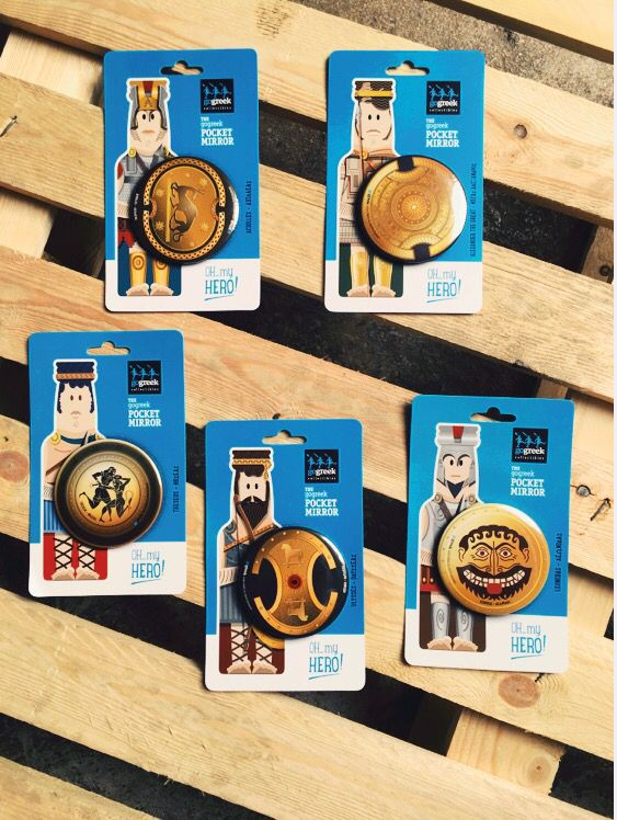 Pocket Mirrors for Gogreek collections of souvenirs!!! Production : Prepack Design : Yonas design
