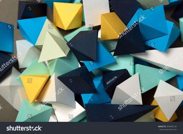 Geometric origami background. Colorful.