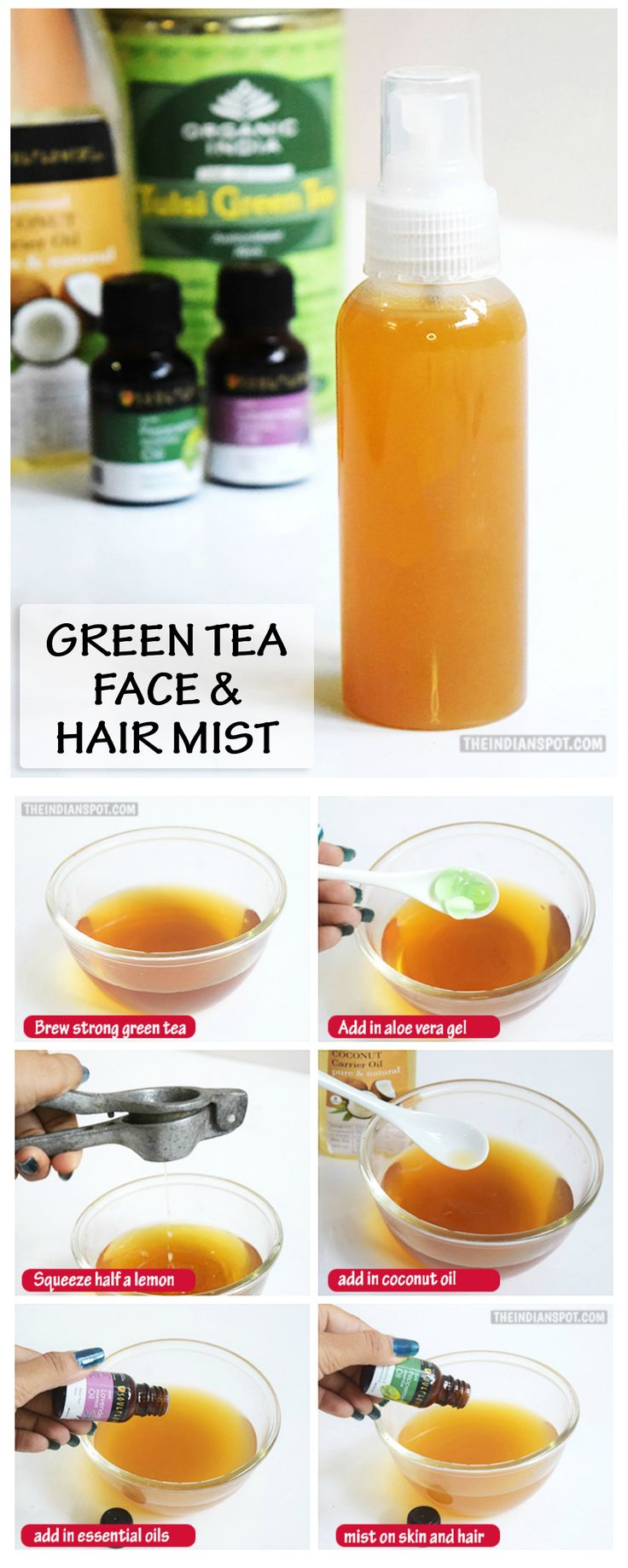 Green tea is long known for its beauty and health benefits and is also used in a lot of beauty products these days.  It contains a high amount of antioxidant...