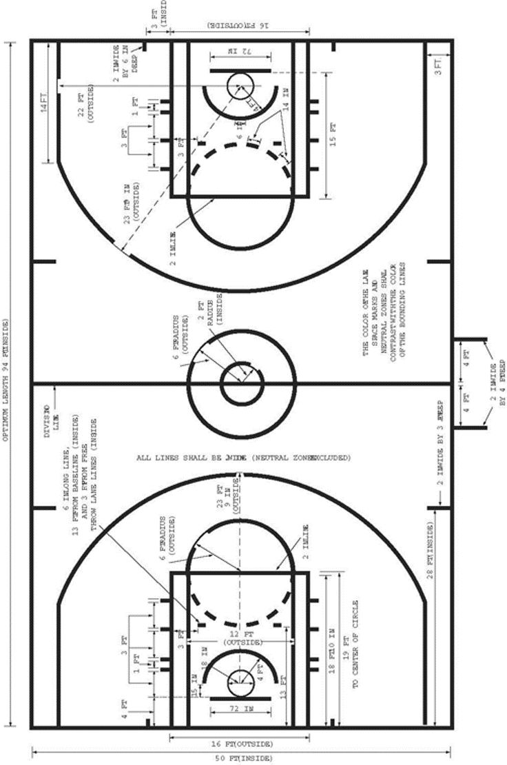 The 25 best basketball court size ideas on pinterest for Home basketball court size