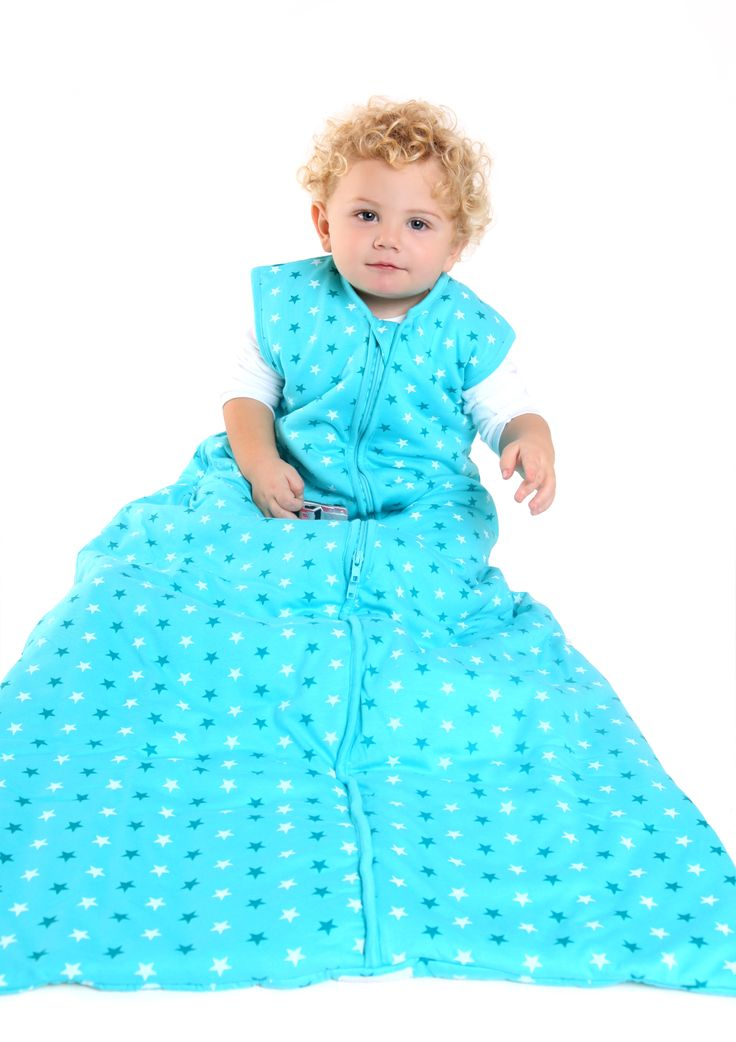 Our Kids Teal Stars Sleeping Bag Is Made From Jersey Cotton With A Simple Star Print