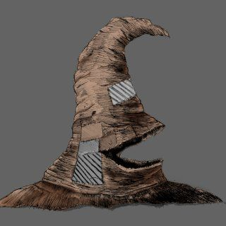 Beautiful representation of  The Sorting Hat. Why one should always ask to be re-sorted by the sorting hat.  I wish to be re-sorted please.  They have placed me in the wrong grouping. Rachel Mckeown