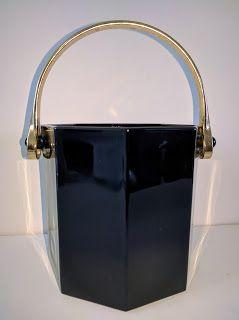 SKYSCRAPER CAPE TOWN - 20th CENTURY CLASSICS: Mid Century Modern French Octagonal Black Glass Ic...