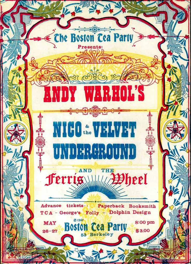 Andy Warhol & The Velvet Underground, The Boston Tea Party 1967