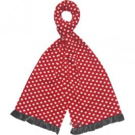 Red Spot Jersey Scarf